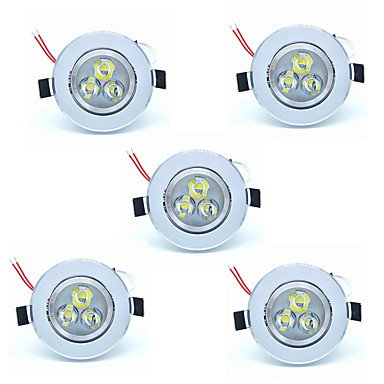 5pcs 3W 300lm 3 LED'ler Kolay Kurulum Gömme LED Gömme Işıklar Sıcak Beyaz Serin Beyaz 220V-240V Hol/Koridor Banyo Yatak Odası Oturma
