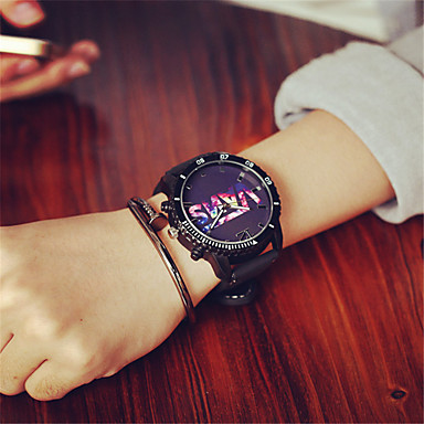 Pentru femei Ceas La Modă Quartz Silicon Bandă Charm Casual Negru