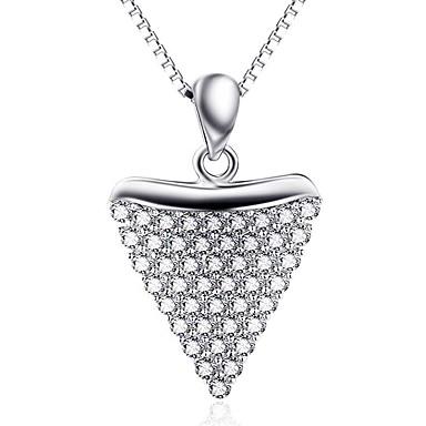 Riipukset Sterling-hopea Tekojalokivi Yksinkertainen Heart Hopea Korut Päivittäin Kausaliteetti 1kpl