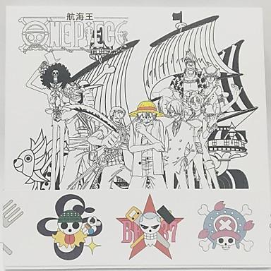 المزيد من الاكسسوارات مستوحاة من One Piece Monkey D. Luffy ورقة 208*142*12 CM ألعاب تركيب دمية لعبة