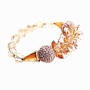 Kadın Zincir & Halka Bileklikler Kristal Doğa Moda Kristal Avusturya Kristali alaşım Round Shape Mücevher Uyumluluk Parti Nişan