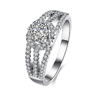 Damen Ring Kubikzirkonia Personalisiert Geometrisch Einzigartiges Design Klassisch Retro Böhmische Grundlegend Herz Freundschaft