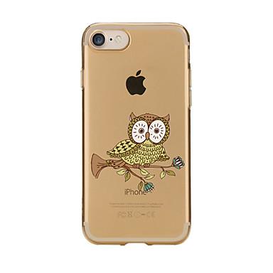 Varten Läpinäkyvä Kuvio Etui Takakuori Etui Pöllö Pehmeä TPU varten AppleiPhone 7 Plus iPhone 7 iPhone 6s Plus/6 Plus iPhone 6s/6 iPhone