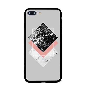 Uyumluluk iPhone X iPhone 8 Kılıflar Kapaklar Temalı Arka Kılıf Pouzdro Geometrik Desenli Sert Akrilik için Apple iPhone X iPhone 8 Plus