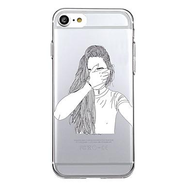Käyttötarkoitus kotelot kuoret Ultraohut Läpinäkyvä Takakuori Etui Sexy Lady Pehmeä TPU varten Apple iPhone 7 Plus iPhone 7 iPhone 6s