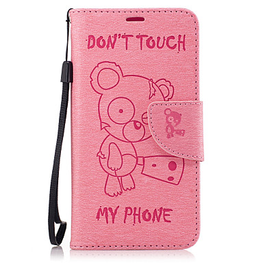 tok Για Samsung Galaxy J5 (2016) J3 (2016) Θήκη καρτών Πορτοφόλι με βάση στήριξης Ανοιγόμενη Πλήρης Θήκη Ζώο Σκληρή PU δέρμα για J5