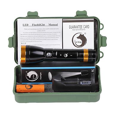 U'King LED taskulamput LED 2000 lm Tila Cree XM-L T6 - Akulla ja laturilla Ladattava Isku viiste Hätä Telttailu/Retkely/Luolailu