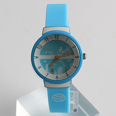 Kadın's Moda Saat Quartz / Silikon Bant Günlük Mavi