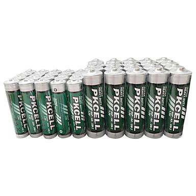 pkcell R03P aaa R6P aa kuiva solu akku 1.5V 40 pack