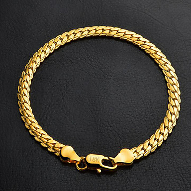 Women's Figaro Chunky Chain Bracelet Platinum Plated Gold Plated Classic Fashion Bracelet Jewelry Silver / Golden