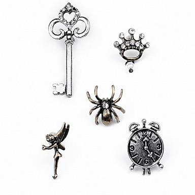 للمرأة مجموعة مجوهرات دبابيس ترف أساسي موضة تقليد الماس سبيكة أخرى عناكب حيوان مجوهرات من أجل يوميا