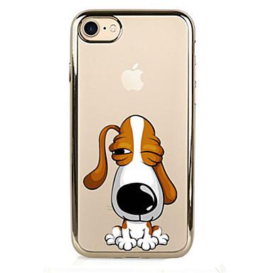 غطاء من أجل iPhone 7 Plus iPhone 7 iPhone 6s Plus أيفون 6بلس iPhone 6s ايفون 6 أيفون 5 أيفون 5C Apple تصفيح غطاء خلفي كلب ناعم TPU إلى