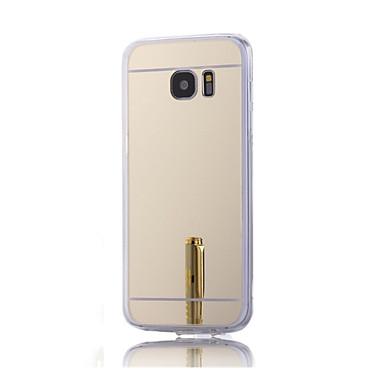 Недорогие Чехлы и кейсы для Galaxy S6 Edge-Кейс для Назначение SSamsung Galaxy S7 plus / S7 edge / S7 Покрытие / Зеркальная поверхность Кейс на заднюю панель Однотонный Твердый Акрил