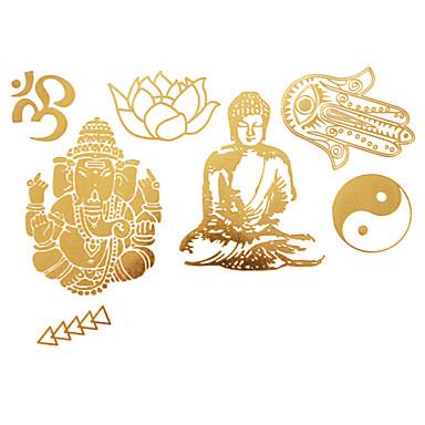 #(1) - #(23x15) - Χρυσό Άλλα - Αυτοκόλλητα Τατουάζ - Μοτίβο - από Χαρτί για Γυναικεία/Girl/Ενήλικες/Εφηβικό
