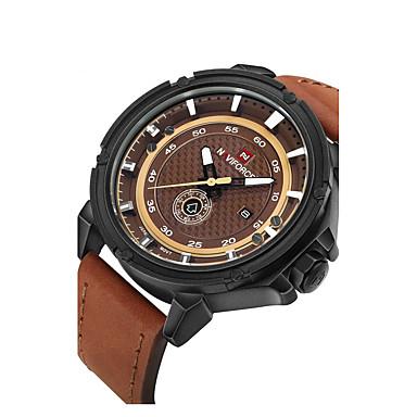 Erkek Spor Saat Elbise Saat İskelet Saat Moda Saat Bilek Saati mekanik izle Quartz Gerçek Deri Bant İhtişam Günlük Lüks Çok-Renkli