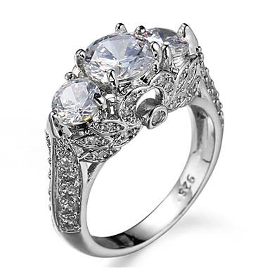 Inele Zilnic Bijuterii Zirconiu Inel 1 buc,6 7 8 9 10 Argint