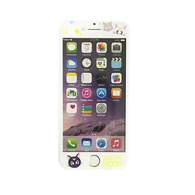 Yumuşak kenar tam ekran kapsama ön ekran koruyucusu karikatür kedi desenli apple iphone 6 artı / 6s artı 5.5 inçlik temperli cam için