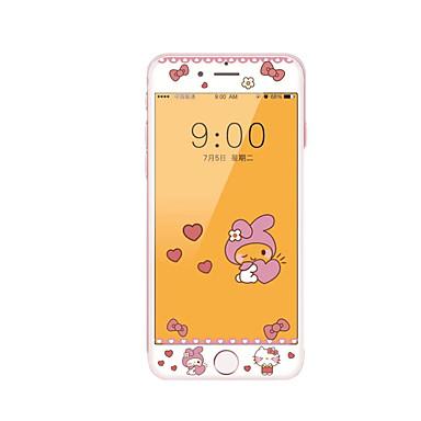 iPhone 7 4.7 karkaistu lasi näytön suoja pehmeä reuna peittää koko näytön edessä näytön suojus piirretty kuvio