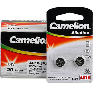 Camelion Ag10 sikke düğme hücre alkalin pil 1.5v 40 paket