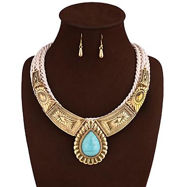 Κοσμήματα 1 Κολιέ 1 Ζευγάρι σκουλαρίκια Γάμου Πάρτι Καθημερινά Κράμα 1set Χρυσαφί Ασημί Δώρα Γάμου
