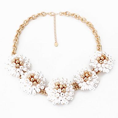 Kadın Tellerinin Kolye Mücevher Tek Dizi İnci Değerli Taş alaşım Doğa Elyapımı Kişiselleştirilmiş Euramerican Mücevher UyumlulukParti