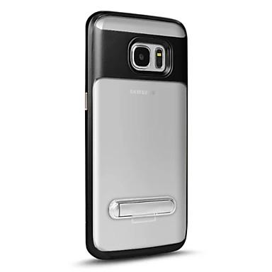 tok Για Samsung Galaxy S7 edge S7 με βάση στήριξης Ημιδιαφανές Πίσω Κάλυμμα Συμπαγές Χρώμα Σκληρή PC για S7 edge S7 S6 edge plus S6 edge