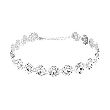 Naszyjniki choker Biżuteria Biżuteria Żywica Imitacja diamentu Modny Postarzane euroamerykańskiej Osobiste Europejski Biżuteria Na