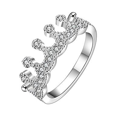 عصابة الهالووين يوميا فضفاض مجوهرات زركون نحاس تصفيح بطلاء الفضة خاتم 1PC,8 فضة