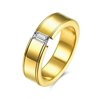 خاتم ذهبي الصلب التيتانيوم يوميا فضفاض مجوهرات
