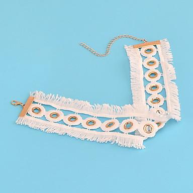Γυναικεία Κολιέ Τσόκερ Κοσμήματα Circle Shape Κοσμήματα Ύφασμα Εξατομικευόμενο Ευρωπαϊκό Μοντέρνα Euramerican μινιμαλιστικό στυλ Κοσμήματα