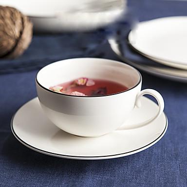 Minimalizm Bardak Takımı, 320 ml Modellendirme Seramik Çay Süt Kahve Kupaları