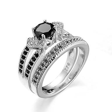 Κρίκοι Καθημερινά Κοσμήματα Ατσάλι Δαχτυλίδι 1pc,6 7 8 9 10 Ασημί