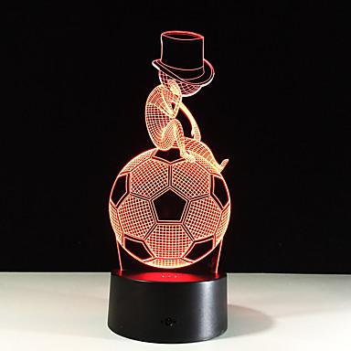 1szt nożnej lampa LED 3D stereo światła widzenie kolorów gradientu kolorowe akrylową lampka nocna światła wizji