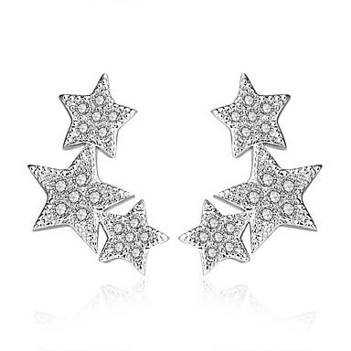 Niittikorvakorut Cubic Zirkonia Sterling-hopea Korut Häät Party Päivittäin Kausaliteetti