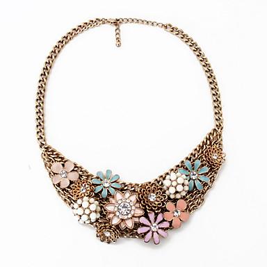 Kadın Gerdanlıklar Mücevher Mücevher Değerli Taş alaşım Moda Kişiselleştirilmiş Euramerican Avrupa Çiçekli Mücevher UyumlulukParti Özel