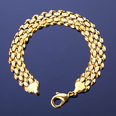 Ανδρικά Γυναικεία Βραχιόλια με Αλυσίδα & Κούμπωμα Μοντέρνα Πεπαλαιωμένο Βοημία Style Χαλκός 18K χρυσό Geometric Shape Δράκος Χρυσό
