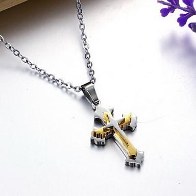 تعليقات Cross Shape الصلب التيتانيوم تصميم بسيط موضة مجوهرات من أجل يوميا فضفاض