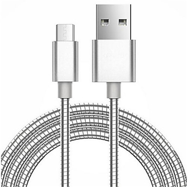cheap Phone Cables & Adapters-Micro USB 3.0 Cable 1m-1.99m / 3ft-6ft Portable / Magnetic Metal USB Cable Adapter For Samsung / Huawei / LG