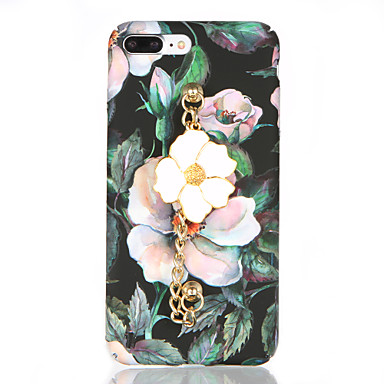 Kılıf Na Apple iPhone 7 Plus iPhone 7 Szron Wzór DIY Czarne etui Kwiaty Twarde PC na iPhone 7 Plus iPhone 7 iPhone 6s Plus iPhone 6s