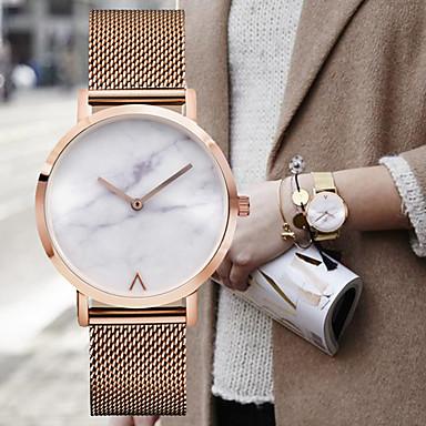 Bărbați Ceas Elegant  Ceas La Modă Ceas de Mână Quartz Oțel inoxidabil Bandă Charm Vintage minimalist Argint Auriu Roz auriu