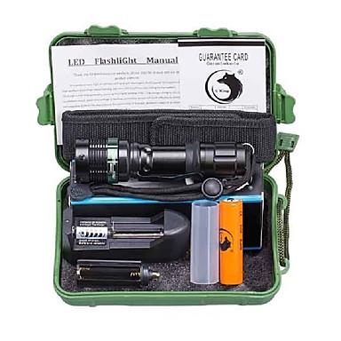 U'King LED Flashlights LED 2000 lm 3 طريقة Cree XM-L T6 مع البطارية والشاحن زوومابلي Adjustable Focus Camping/Hiking/Caving Everyday Use