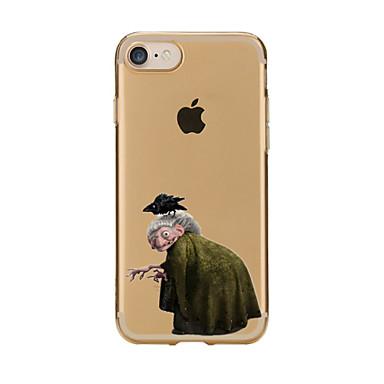 Varten Läpinäkyvä Kuvio Etui Takakuori Etui Piirros Pehmeä TPU varten AppleiPhone 7 Plus iPhone 7 iPhone 6s Plus/6 Plus iPhone 6s/6