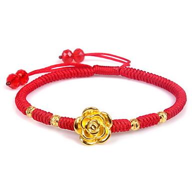 Bransoletki i łańcuszki na rękę Modny Srebro standardowe Pozłacane Nylon Flower Shape Biżuteria Rose Biżuteria NaUrodziny Prezenty