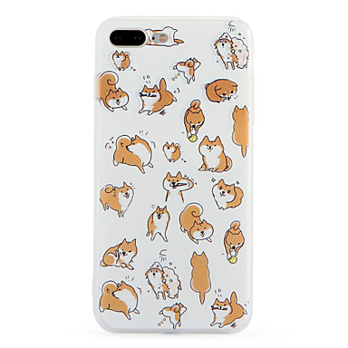 Case For iPhone 7 Plus iPhone 7 Apple Pattern Back Cover Dog Soft TPU for iPhone 7 Plus iPhone 7