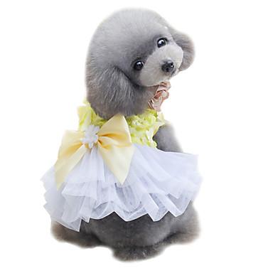 Câine Rochii Σμόκιν Îmbrăcăminte Câini Draguț Nuntă Modă Nod Papion Galben Roz Costume Pentru animale de companie