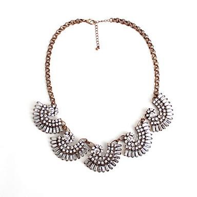 Damskie Pasemka Naszyjniki Biżuteria Flower Shape Biżuteria Kamień szlachetny Stop Osobiste euroamerykańskiej Europejski Modny Silver