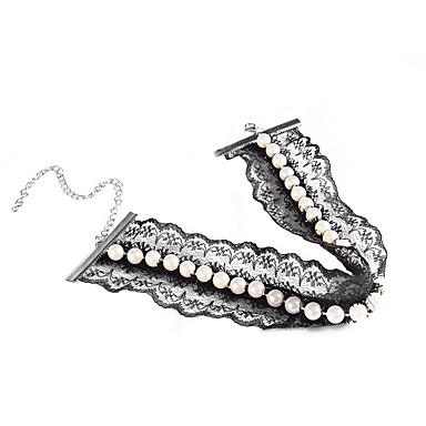 Damskie Naszyjniki choker Pearl imitacja Perłowy Imitacja pereł Koronka Żywica Osobiste Europejski Modny euroamerykańskiej Biżuteria Na