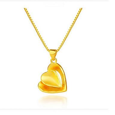 Riipus-kaulakorut Korut Heart Shape Sterling-hopea Gold Plated 18K kulta Roikkuva Heart Geometrinen Muoti Korut Käyttötarkoitus