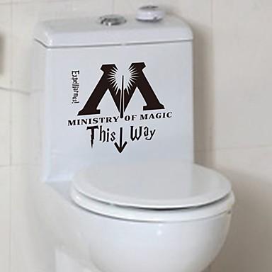 Karton Serbest Duvar Etiketler Uçak Duvar Çıkartmaları Dekoratif Duvar Çıkartmaları Tuvalet Çıkartmaları,Kağıt Vinil MalzemeEv