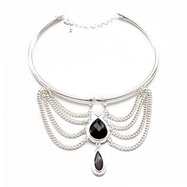 Kadın Uçlu Kolyeler Mücevher Circle Shape Mücevher Değerli Taş alaşımEşsiz Tasarım Moda Euramerican Avrupa lüks mücevher